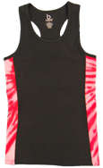 Ladies Tye Dye Sides Racer Back