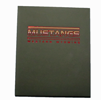 Black Soft Touch Mustangs Folder