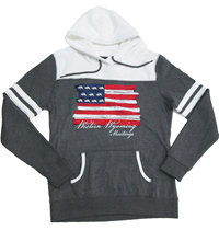 Fleece Hoodie With Flag