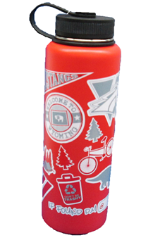 H2go Bottle 40 Oz W/Stickers