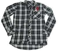 Ladies Black/White Flannel Shirt