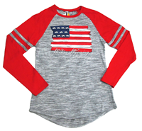 Longsleeve Tee With Flag