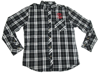 Mens Black/White Flannel Shirt