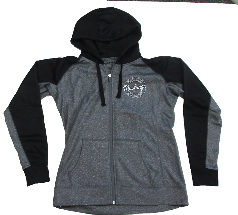 Womens Contrast Poly Fleece Full Zip Hoodie (SKU 103159101)
