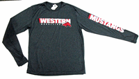Wrestling Graphite Heather Long Sleeve Tee